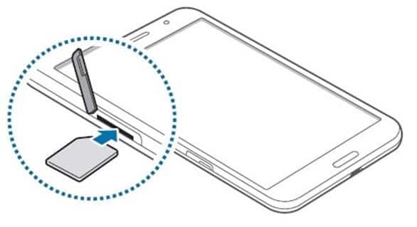 вставка SIM-карты