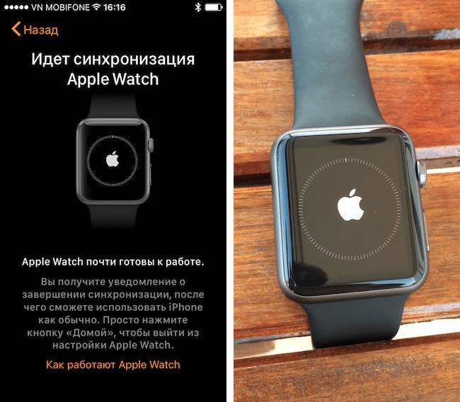 Часы Apple: настройка и сопряжение