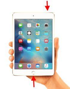 Инструкции по перезагрузке iPad