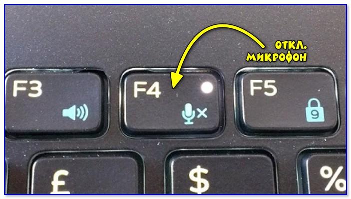 Кнопка отключения звука микрофона / функция ноутбука