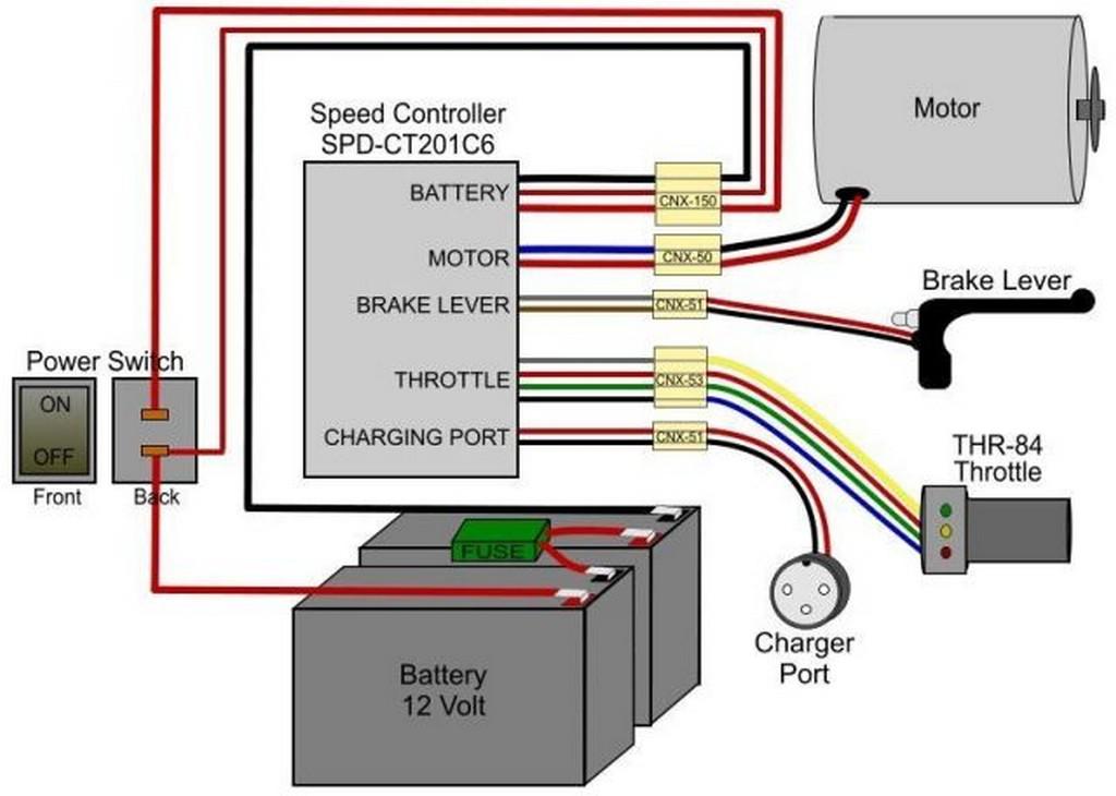 Как работает электрический скутер - рабочая схема